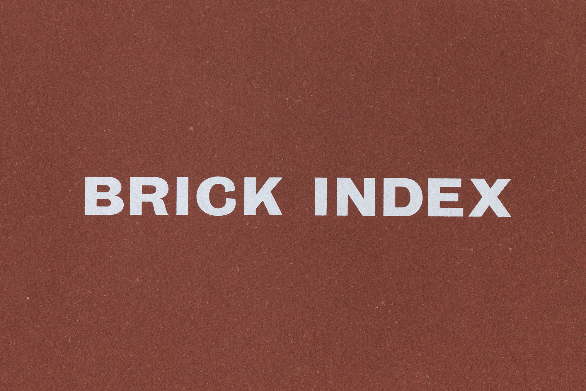 Patrick Fry Studio Brick Index